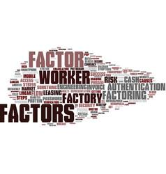 Factors word cloud concept vector