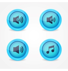 Media player glossy buttons collection vector image