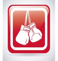 Boxing sport vector