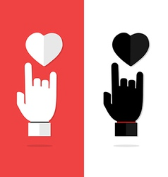 I love you language hand sign icon vector