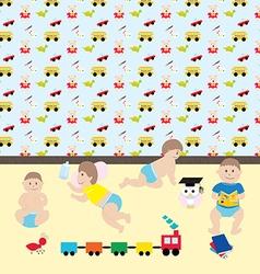 Movements of kids2 vector