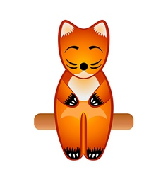 Fox toy vector