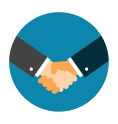 Handshake icon flat vector