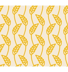 Wheat ears seamless pattern golden rye background vector