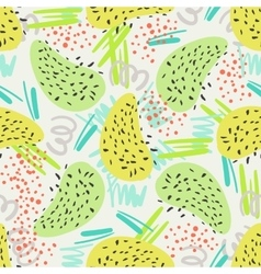 Abstract decorative seamless pattern with shapes vector
