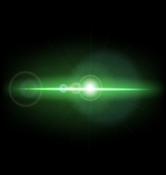 Abstract background with green lens flare vector