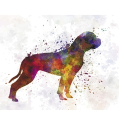 American bulldog 01 in watercolor vector