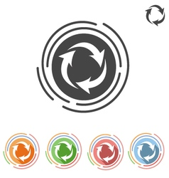 Arrows in a circle process icon vector