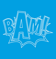Bam explosion effect icon outline style vector