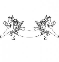 baroque cupids vector image vector image