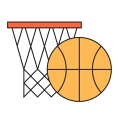 Basketball hoop sport basket vector
