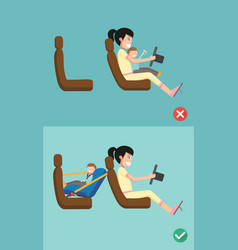 best and worst for baby safety vector image