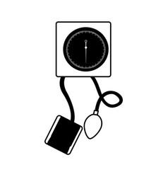 Black icon blood plessure apparatus vector