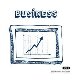 Business graphic frame vector image vector image