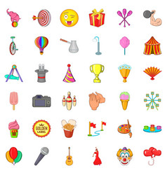 children icons set cartoon style vector image vector image