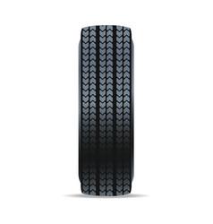 Detailed car tire icon vector