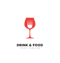 drink and food logo vector image