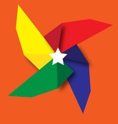 Fan rainbow vector