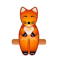 fox toy vector image vector image