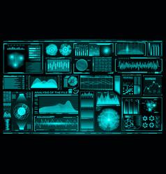 Futuristic user interface set hud future vector