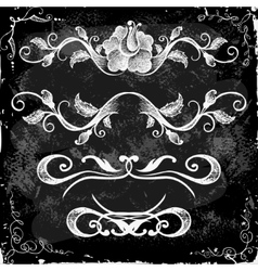 Hand-Drawn Doodle Borders and Design Elements vector image vector image