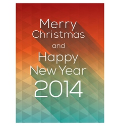 Happy New Year abstract triangle Background vector image
