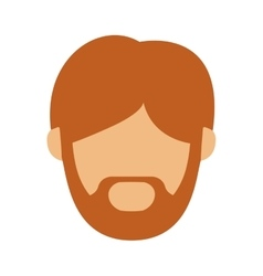 Head man with redhead beard without face vector