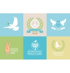 International Day of Peace Poster vector image vector image