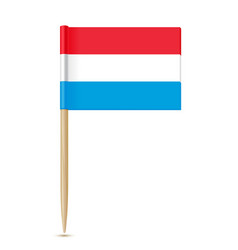 luxembourg flag toothpick vector image vector image