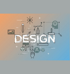 modern concept of word design vector image vector image