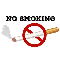 No smoking sign with text and picture vector image