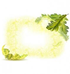 oak leaves background vector image vector image