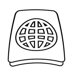 Passport identification document tourist line vector