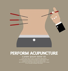 Perform Acupuncture Graphic vector image