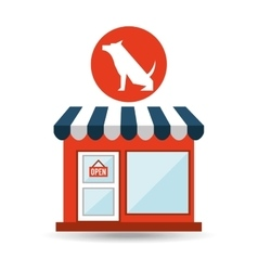 pet shop with dog sitting vector image vector image