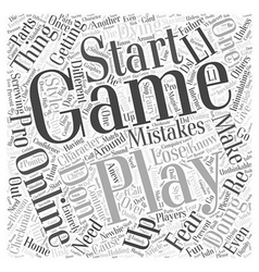 Playing games pro style word cloud concept vector