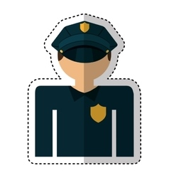 police agent avatar character vector image