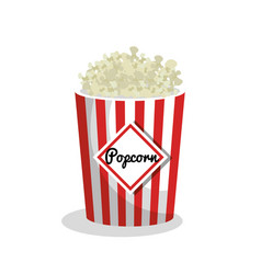 Pop corn movie icon vector