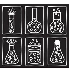Set of chemical test tubes vector image vector image
