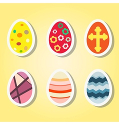 set of color icons with Easter eggs vector image vector image