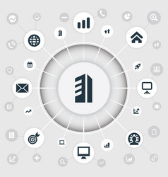 set of simple startup icons vector image vector image