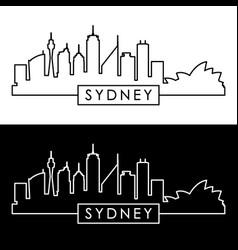 sydney skyline linear style editable file vector image vector image