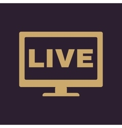 The live tv icon broadcasting and broadcast vector