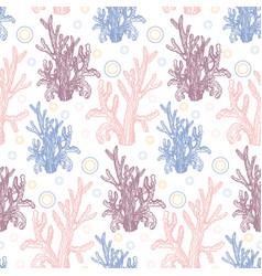 the marine theme vector image