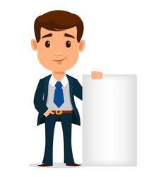 young handsome businessman in suit standing near vector image vector image