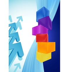 Abstract business background with colorful cubes vector image