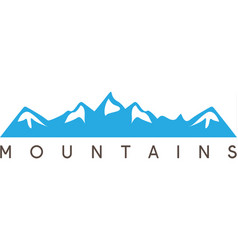 simple of the abstract mountains vector image