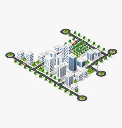 City megapolis structure vector