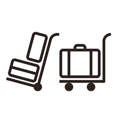 Baggage carts vector