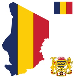 Republic of chad flag vector
